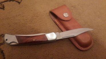 Коллекционные ножи - Кыргызстан: Сувенирный нож с коженым кожухам новый