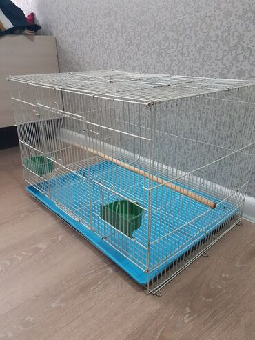 Зоотовары - Кыргызстан: Продается большая клетка для попугая,сост хорошая,высота 40,длина 60