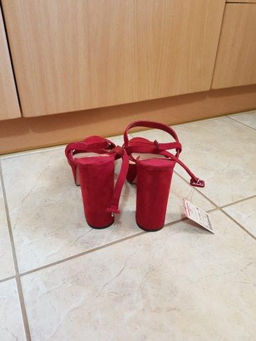 Κόκκινο σουετ πεδιλο με χοντρο τακουνι 39no σε Apokoronas