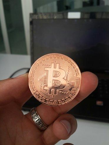 Mingəçevir şəhərində Bitcoin suvenir. metaldan. hərəsi 5 AZN