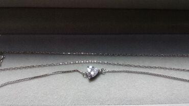 g shock ga 100 в Кыргызстан: Продаю бриллиантовое колье и браслет. колье: цепь -45см серебро
