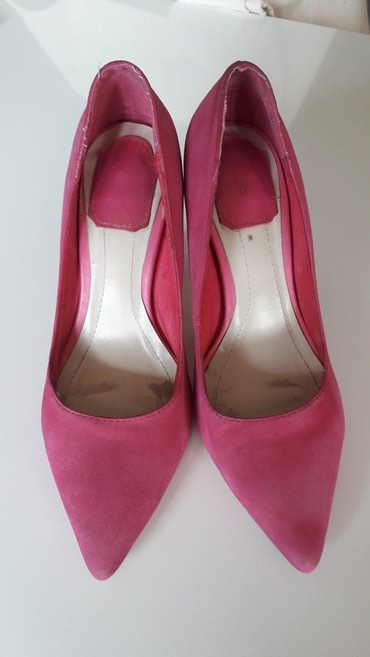 Italijanske KOZNE cipele, prevrnuta koza, malo nosene,pink,vel. 36 - Nis