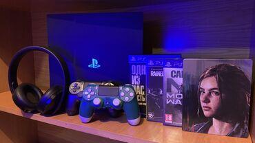 наушники 7 1 в Кыргызстан: Продаю свой PlayStation 4 Pro 1 TB.  В комплекте: Ps 4 Pro 1 TB (со вс