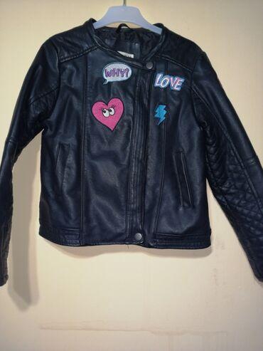 Kozne jakne - Srbija: Veoma ocuvana kozna jaknica za devojcice, vel 7-8