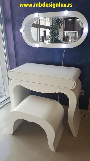 Fantasticni toaletni sto midea, dim. 100x50x80 i 110x50x80,tabure - Nis