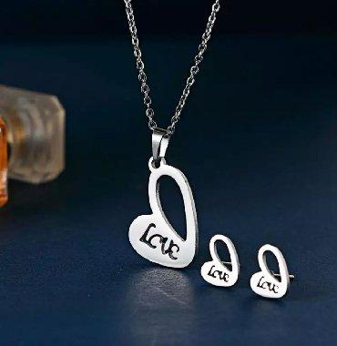 Jewellery Sets - Srbija: Komplet set Love - Nakit Lajkit☆Elegantan☆Simpatičan☆Povoljan❤Nakit