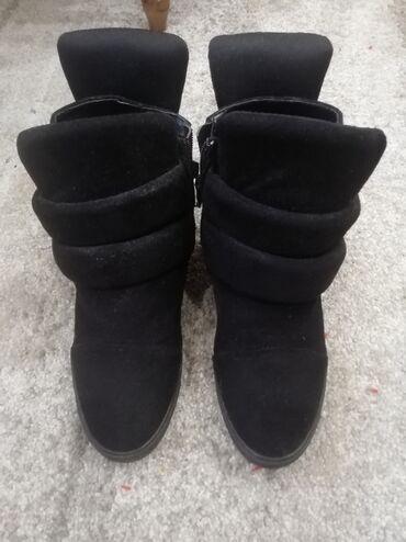 Sako crne boje - Srbija: Cipele - patike sa platformom, broj 39, nošene par puta, crne boje, pr