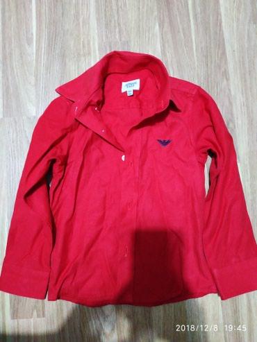 Bakı şəhərində Рубашка б/у рост 98 на 2.5 - 3 года  цвет красный