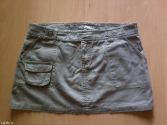 Nova kenvelo kratka suknjica sa dzepovima. 100% pamuk. Velicina l -