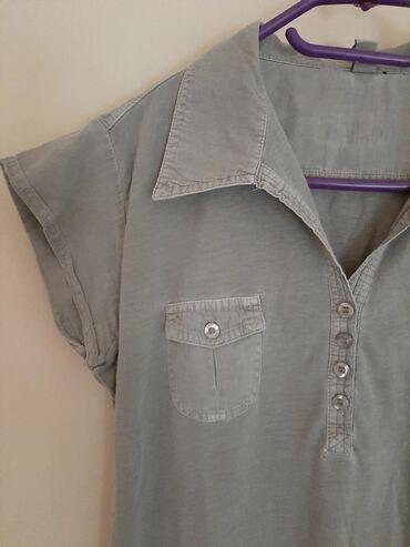 Košulja polo majica zenska. Vel M. Svetlo maslinaste boje