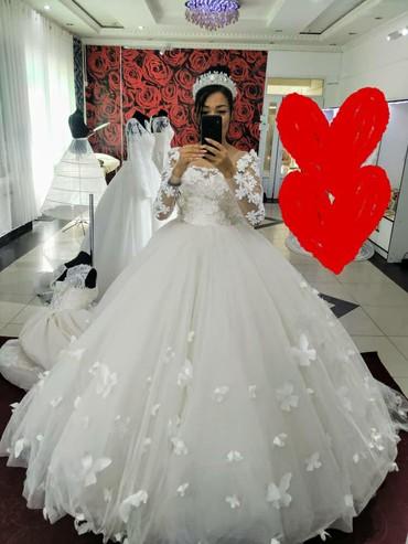 заказать скейтборд недорого в Кыргызстан: Свадебное платье с три д цветами и бабочкамимягкий дорогой