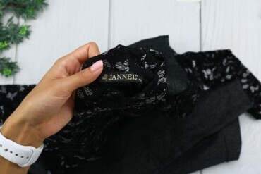 Личные вещи в Украина: Товар: Платье Miss Jannel, черное с серым, размер 48, 7725. Состояние