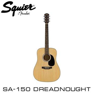 Гитара: Fender Squier SA-150 DREADNOUGHT Natural - акустическая