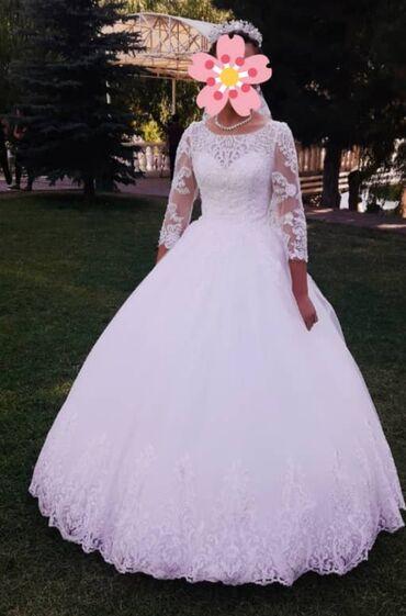 Личные вещи - Луговое: Свадебное платье на прокат.  В идеальном состоянии. Размер 42-44 Надев