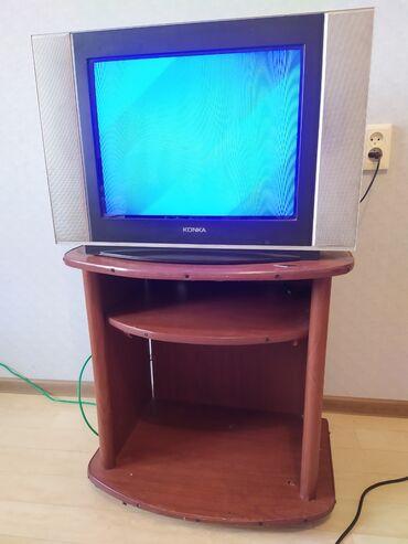 Электроника - Балыкчы: Телевизор вместе с под ставкой -1000 сом.  Штанга жим лежа, два блина