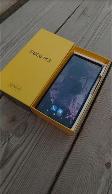продажа смартфонов в бишкеке in Кыргызстан   ДРУГИЕ МОБИЛЬНЫЕ ТЕЛЕФОНЫ: Xiaomi Poco M3   64 ГБ   Синий   Сенсорный, Отпечаток пальца, Две SIM карты