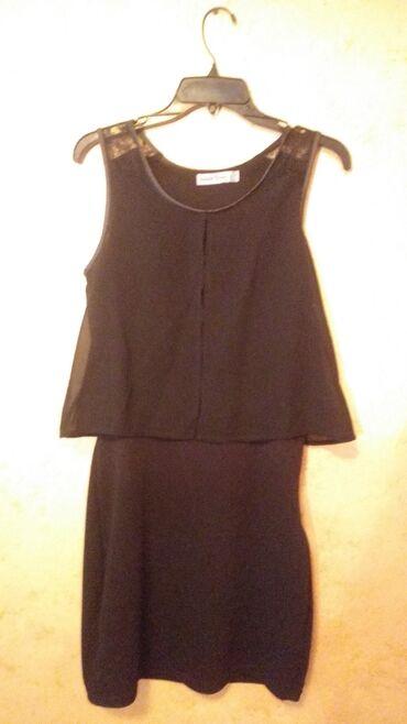 Crna elegantna haljina, M veličina. Kao nova
