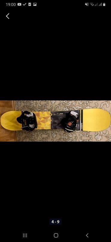 Сноуборды в Кыргызстан: Продаю сноуборд SALOMON 16-17 Wild CardЖёсткость сноуборд 5/10Длина