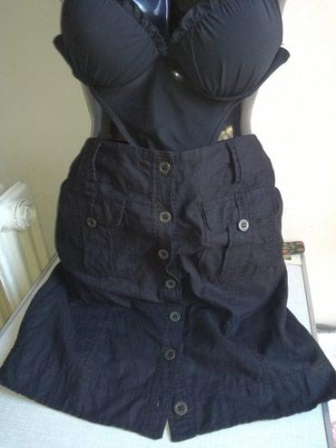 Lanena suknja,ravna,vel:38,struk 80cm,kuk 98cm,duzina 51cm, - Belgrade