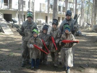 Продаю маркеры для детского пейнтбола. 10 шт+32000 шт пули. . в Бишкек
