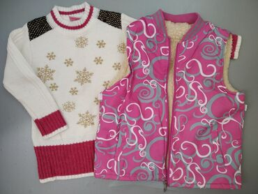 Жилетка +свитер на 6-8 лет В отличном состоянии