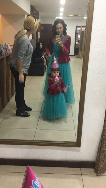 вотсап в Кыргызстан: На прокат платья мама-дочь тел/вотсап . Размер мамы 42-44 дочь на 3-