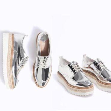 Женская обувь - Кыргызстан: Лоферы броги ( оксфорды) оригиналStradivarius разм 35, в очень