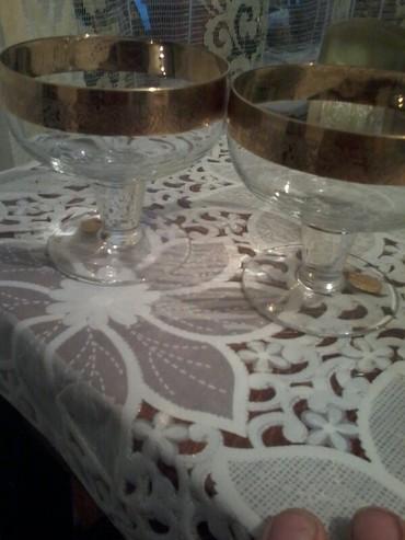 Другая посуда - Кыргызстан: Чешское стекло,богемия.новый(чешское стекло.9шт есть.цена 1 шт-350с