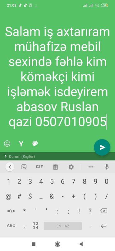 14 elan   İŞ: Anbar müdirinin köməkçisi. 1-2 illik təcrübə