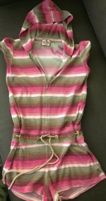 Juicy παιδικό jumpsuit σορτσάκι με hoodie βαμβακερό πετσετέ Νο ηλικί