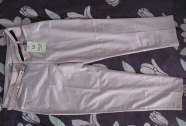 Нежно-розовые капри от турецкого производителя Helen. На 64% ткань