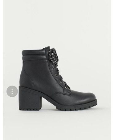 женскую ботинку на осень в Кыргызстан: Новые модные ботинки из Америки Н&М . Размер 38. не подошли по