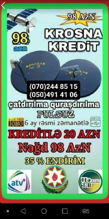 - Azərbaycan: Peyk antenalarının quraşdırılması | Quraşdırılma, Tənzimlənmə | Kredit