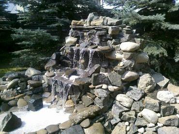 Возведение водопадов и альпийских в Бишкек