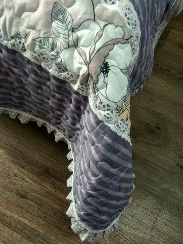 декоративные наволочки на подушки в Кыргызстан: Покрывало с двумя наволочками на добавочные подушки. ткань