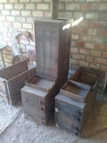 Печи и камины - Кыргызстан: Продам банную печь метал 6мм бак 3мм.130л