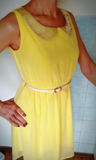 bu v horoshem sostojanii в Кыргызстан: Продам желтое летнее платье с поясом. размер: 42-44, s-m. ткань