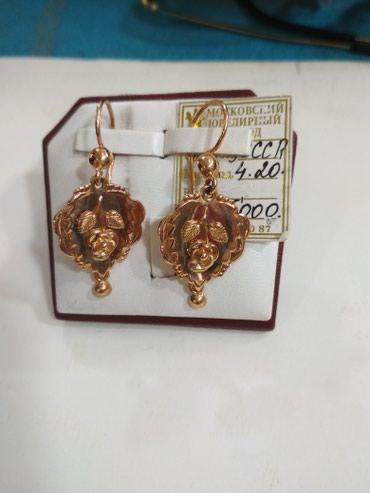 Серьги 583 проба, вес 4.2 цена 8900 в Бишкек