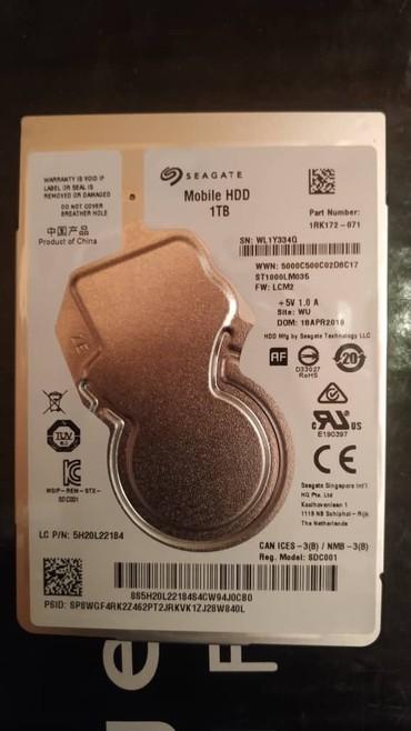 жесткий диск seagate 4tb в Кыргызстан: Жесткий диск для ноутбука Seagate 1tb 5400 128mb sata Notebook Hard Di