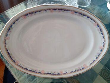 Porcelan - Srbija: Oval nov stari Apulum porcelan. Dizina 37cm. Sirina 25cm