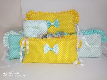 Другие товары для детей - Кыргызстан: Бортики для детской кроватки на 4 стороны. Размер 30*30см 12шт. Ткань
