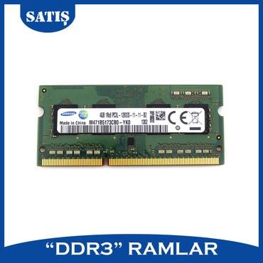 Sumqayıt şəhərində Notebook 4 GB və 2 GB DDR3 ramlar