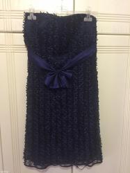 Φόρεμα μπλε σκούρο με μικρα σατεν σε Athens