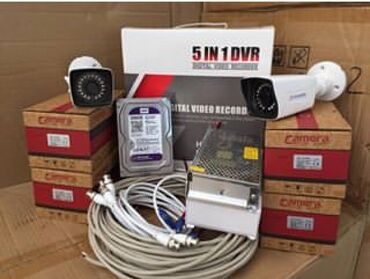 vytyazhki 50 в Азербайджан: DVR 4 PORT 2mpHDD 500(sert disk)Camera 1mp 4ededAdapter 12 v 15mpBNC
