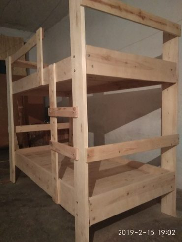 Двухъярусный кровать из дерева размер:190-90.обмен в Сокулук