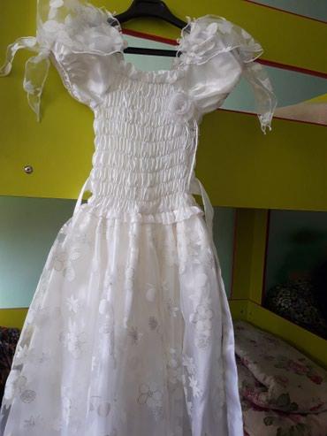 Продаю белое платье вместе с туфлями в Бишкек