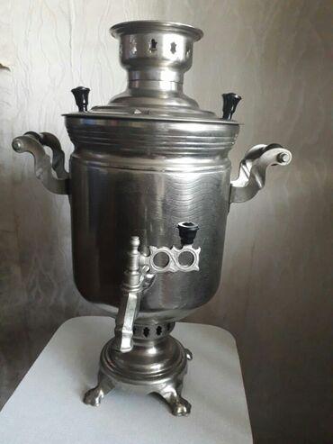 Kömür - Azərbaycan: 80-ci illerin komur samovari.5.5 litr. Hec işlenmeyib