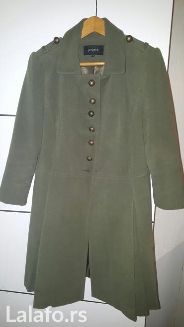 Zenski kaput za punije. Velicina odgovara 44-46. Boja maslinasto - Sremska Mitrovica
