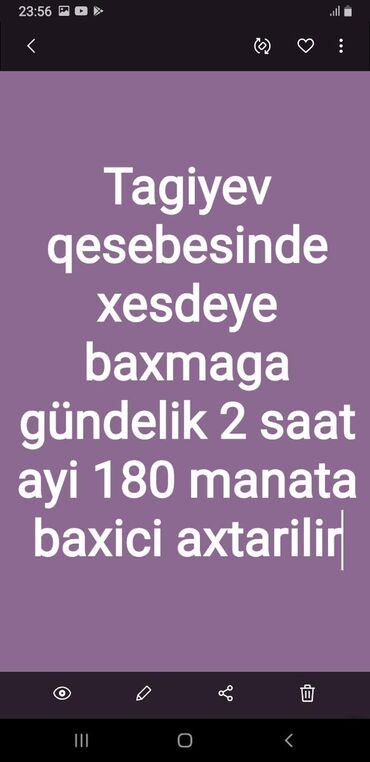 Xesteye baxici axtariram - Azərbaycan: Kisi baxici lazlmdi