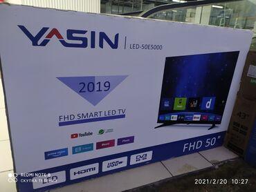 Ясин 50 дюйм большой телевизор качество отличное смарт андроид